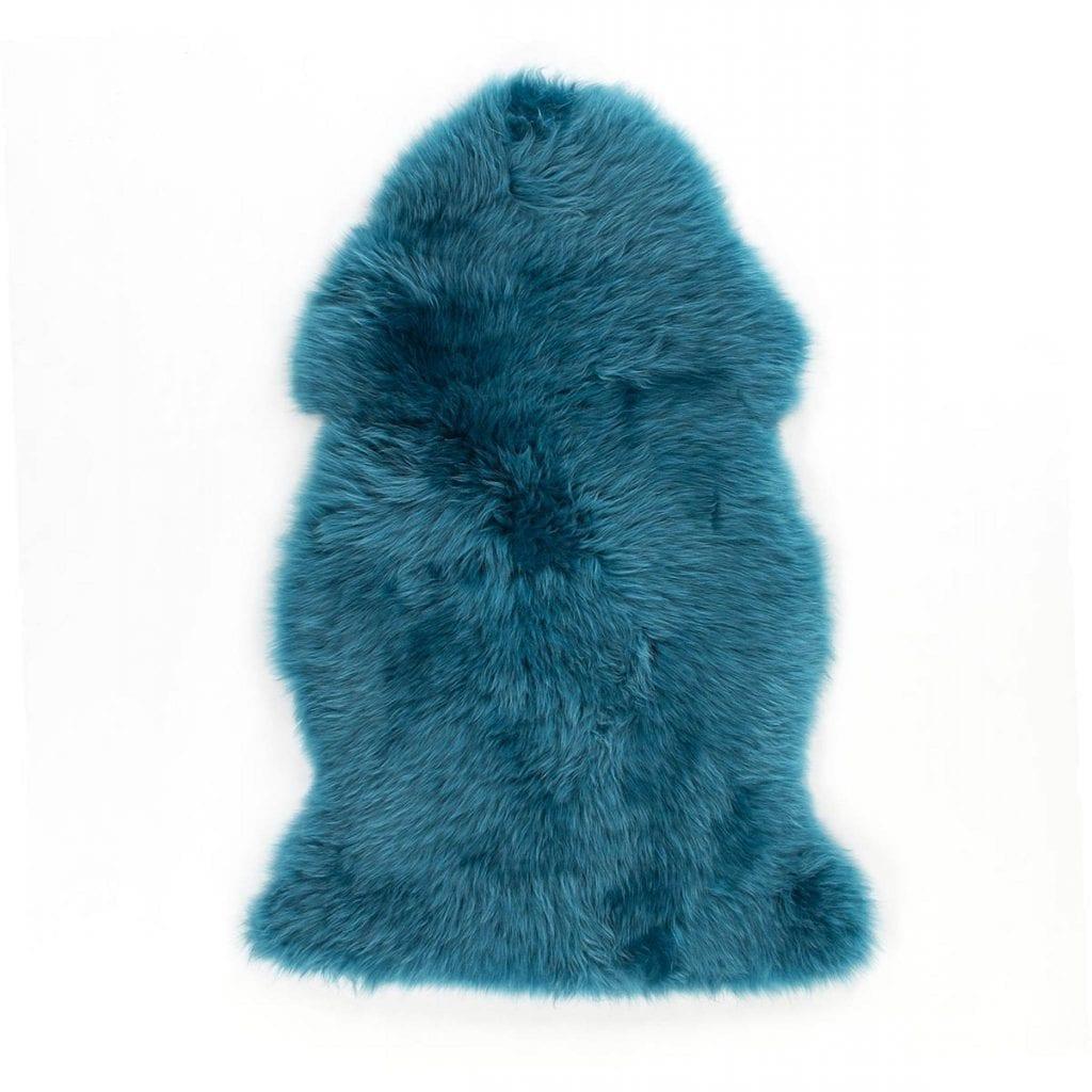 Teal Sheepskin Rug Soft Dyed 100 Sheepskin Rug